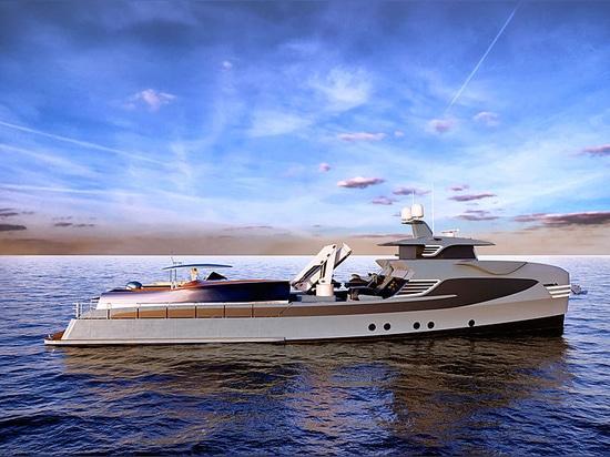 55m Alia-Motoryacht Al Waab II bereit zur Ausrüstung in Antalya