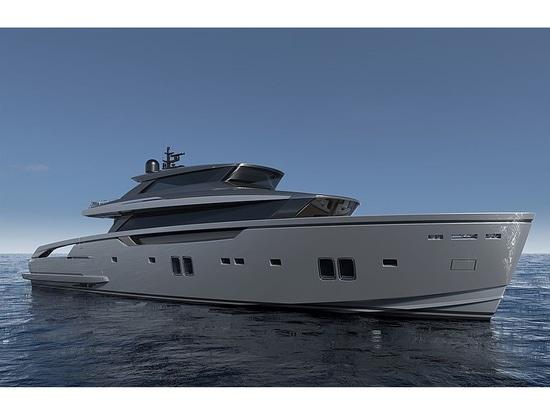 Erste Sanlorenzo SX112 Crossover-Yacht nähert sich der Fertigstellung
