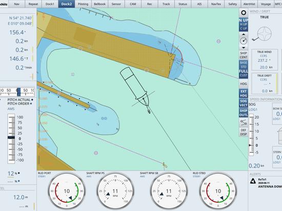 Schiffselektronik: Neue Anzeige soll das Andocken von Schiffen vereinfachen