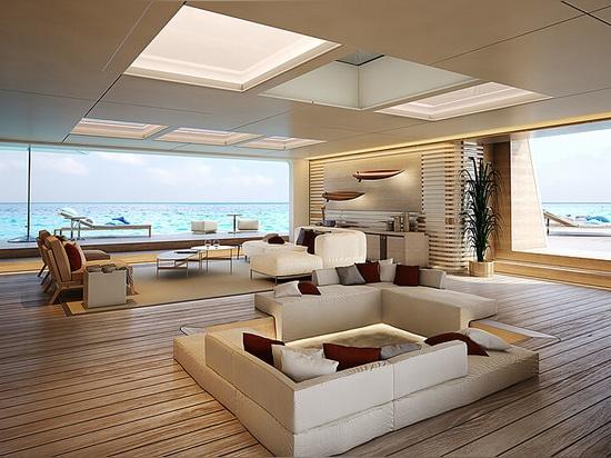 Neue Nauta-Yachtdesigns mit erweiterbarem Beach Club