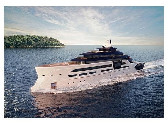 T. Fotiadis entwirft 95m Hybrid-Superyacht-Konzept Ultra2 mit Tresorraum