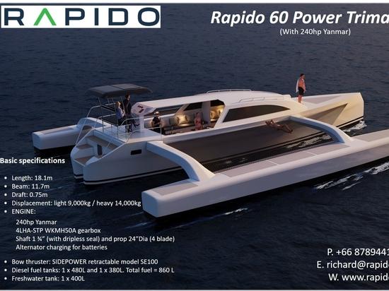 Rapido 60 Power Trimaran zu verkaufen