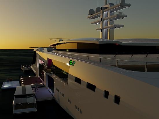 Hybrid-Serie der neuen Generation von 70m+ Support-Yachten von Nick Stark vorgestellt