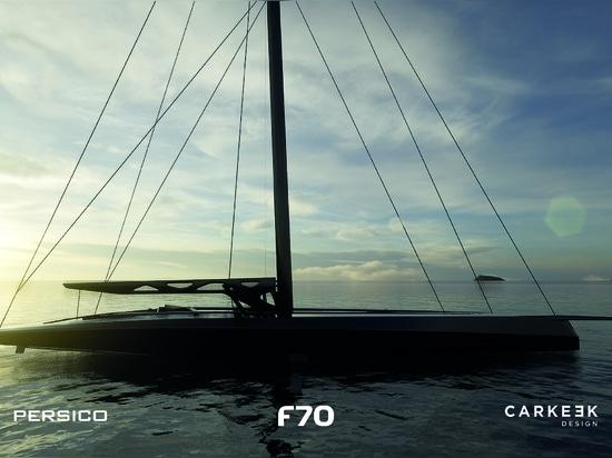 Persico Marine und Carkeek Design Partners stellen F 70 Vollsegel-Tagessegler-Racer vor