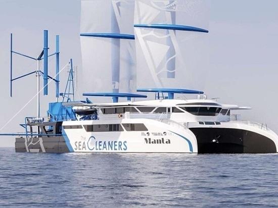 """Manta"""": Ein riesiges Segelboot im Kampf gegen die Plastikverschmutzung der Ozeane"""