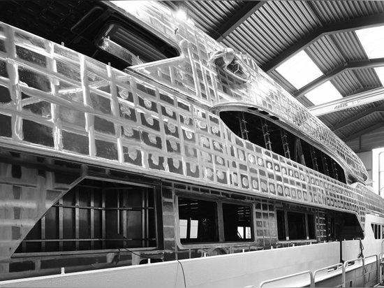 Heesen 47m superyacht Projekt Ruya bereit zum Ausstatten