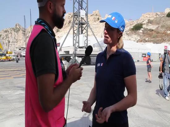 Nautic Expo unterhält sich mit Marie Riou vom französischen Team
