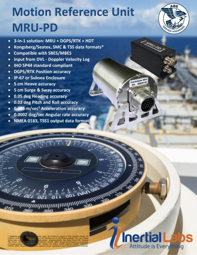 MRU-PD: Dual Antenna GNSS-Aided Motion Reference Unit