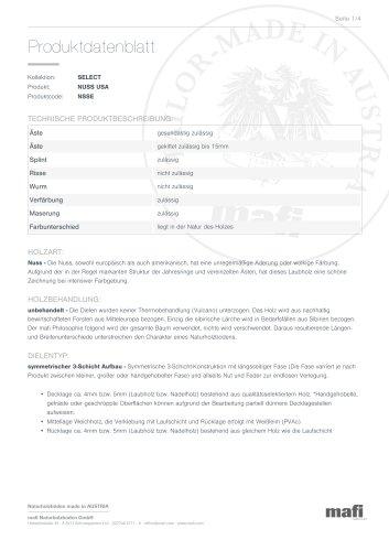 Produktdatenblatt NUSS USA