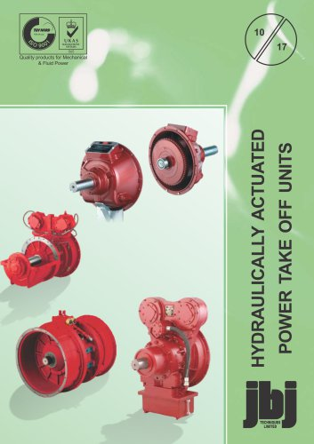 Hydraulically actuated power take off units