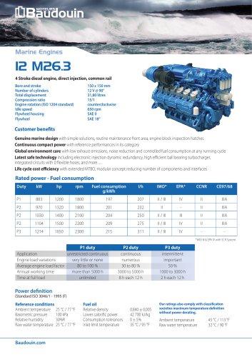 12 M26.3 + SCR Propulsion Engine