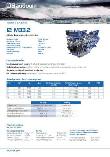 12 M33.2 Propulsion engine