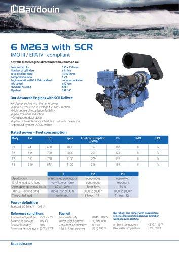 6 M26.3 + SCR Propulsion engine