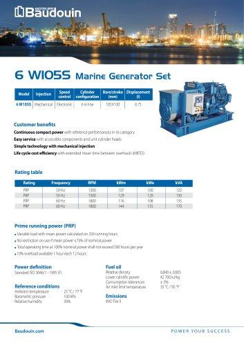 6 W105S Generator