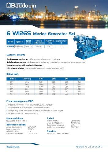 6 W126S Generator