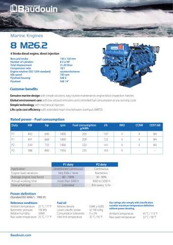 8 M26.2 Propulsion engine
