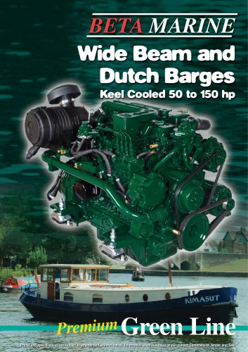 Wide Beam and Dutch Barges Keel Cooled 50 to 150 hp
