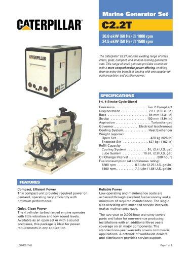 Cat C2-2T Genset Spec Sheet