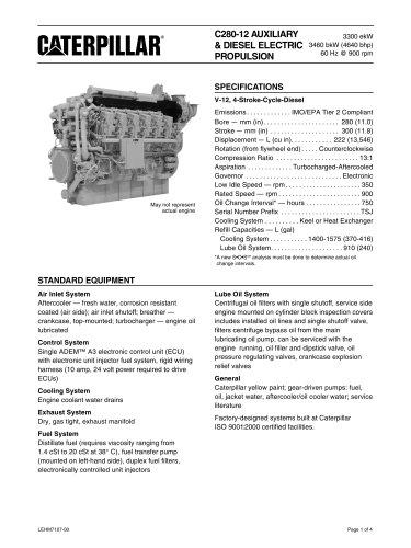 Cat C280-12 Genset Spec Sheet