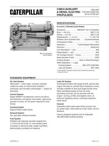 Cat C280-6 Genset Spec Sheet