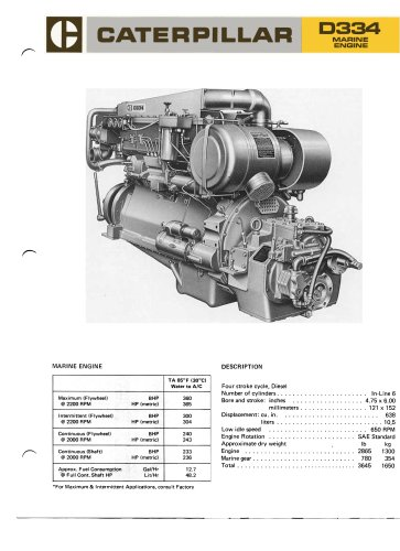 Cat D334 Propulsion - Commercial