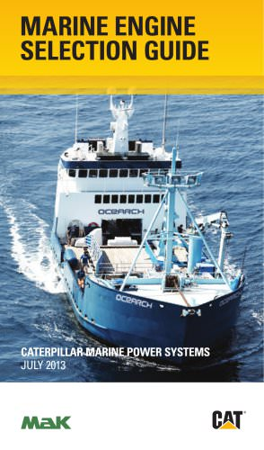 MARINE ENGINE SELECTION GUIDE