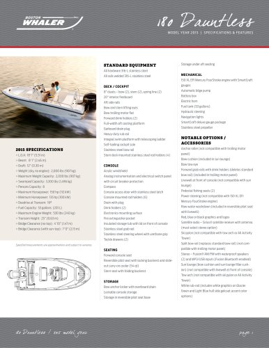 180 Dauntless Specifications - 2015