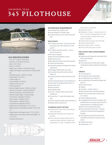 345 Conquest Pilothouse SPEC