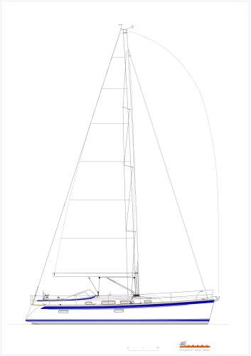 Hallberg-Rassy 412 sail plan