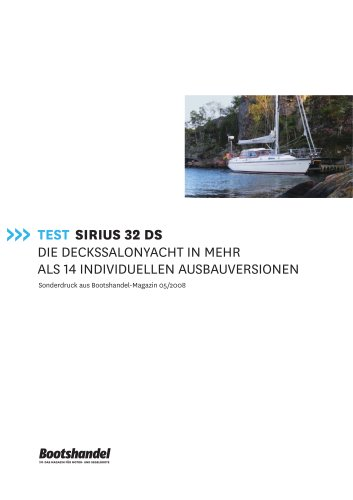 Sirius 32 DS Test im Bootshandel