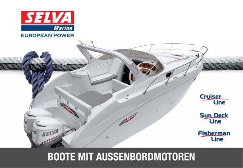 Boote mit AußEnbordmotoren Kataloge Cruiser Line, Sun Deck Line, Fisherman Line
