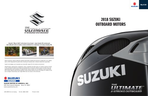 2018 SUZUKI OUTBOARD MOTORS