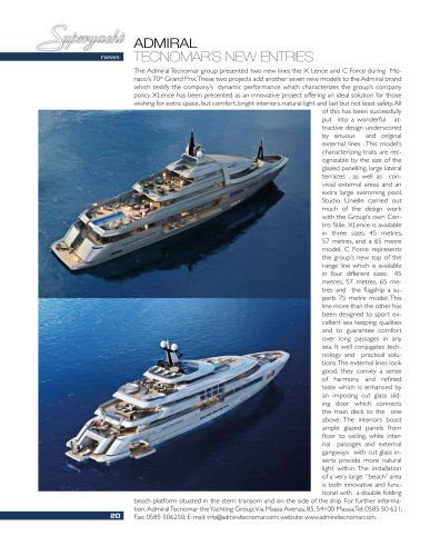 Admiral X Lence and C Force on Superyacht | September 2012