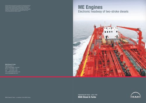 ME Engines ? Electronic Headway of Two-Stroke Diesels