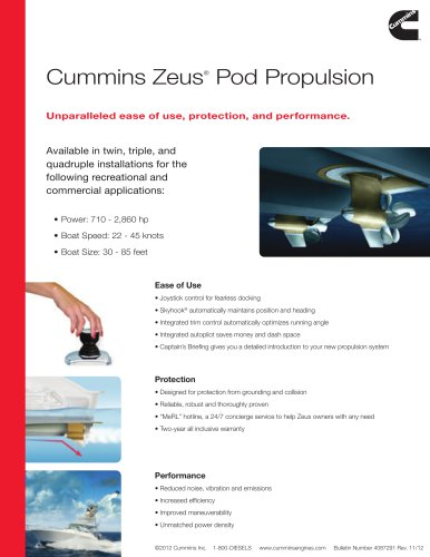 Cummins Zeus® Pod Propulsion