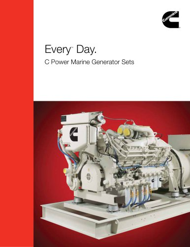 Every ™  Day. C Power Marine Generator Sets