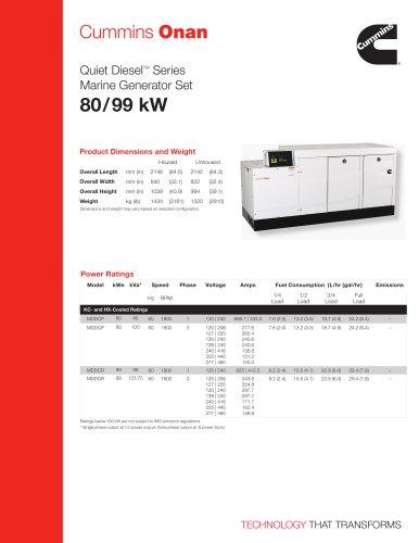 MDDCP/R 80/99 kW