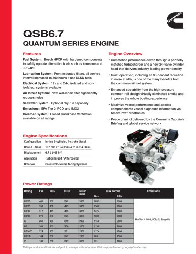 QSB6.7 Quantum Series Engine