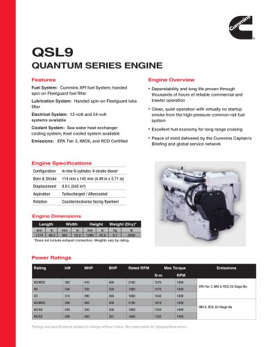 QSL9 Quantum Series Engine