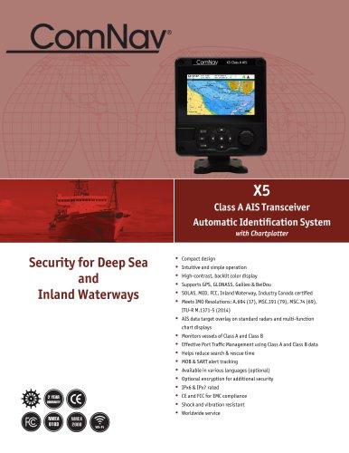 ComNav X5 Class A AIS Transceiver with Chartplotter