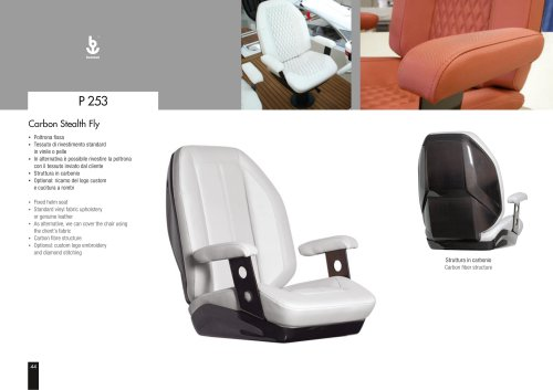 Besenzoni Helm Seat P 253 Carbon Stealth Fly