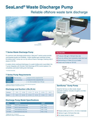 SeaLand ®  Waste Discharge Pump