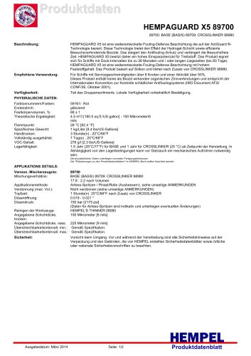 HEMPAGUARD X5 89700
