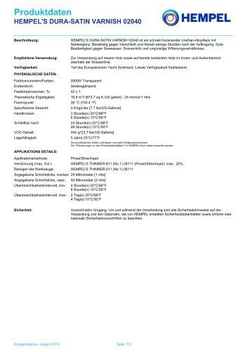 HEMPEL'S DURA-SATIN VARNISH 02040