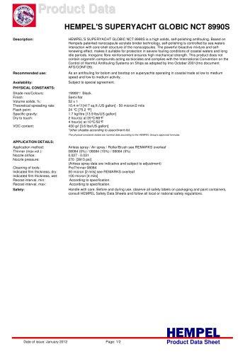 HEMPEL'S SUPERYACHT GLOBIC NCT 8990S