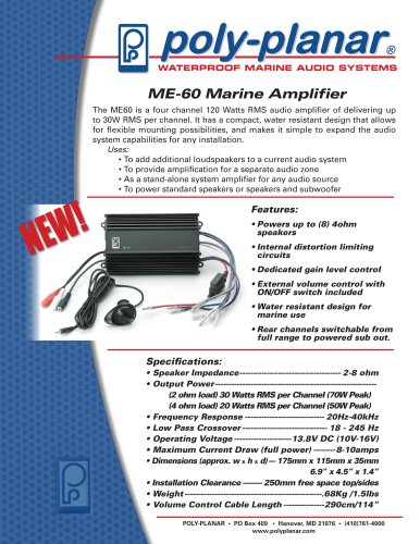 ME-60 Marine Amplifier