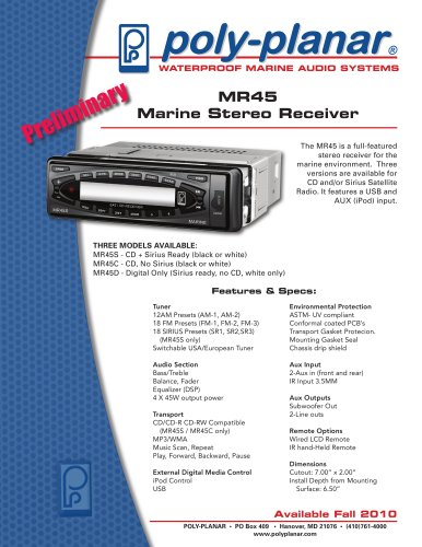 MR45 Marine Stereo Receiver