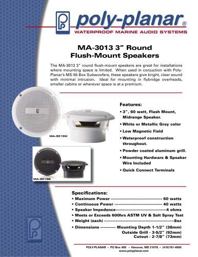 "Poly-Planar MA3013 3"" Round Flush Mount Speaker"