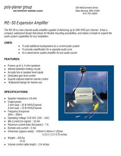 Poly-Planar ME–50 Expansion Amplifier