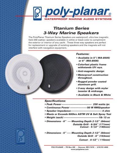 Poly-Planar Titanium Series speakers